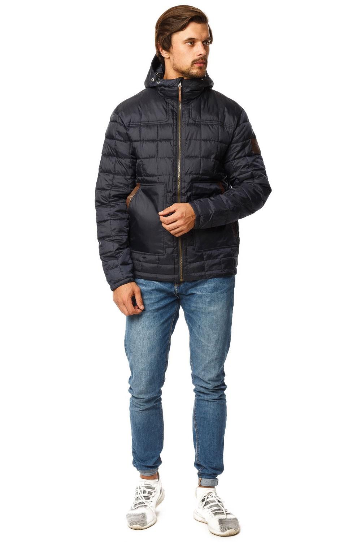 Купить оптом Куртка мужская стеганная темно-синего цвета 1741TS в Челябинске