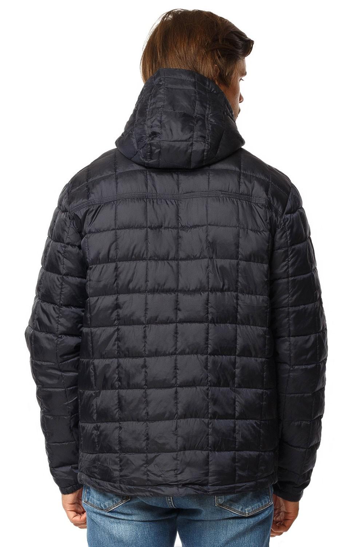Купить оптом Куртка мужская стеганная темно-синего цвета 1741TS в Перми