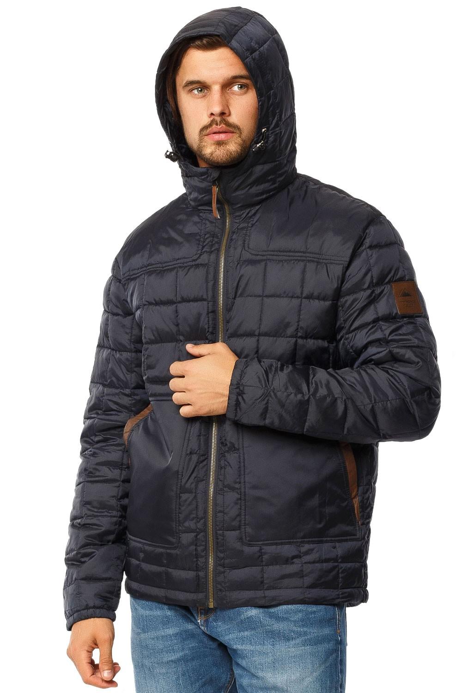 Купить оптом Куртка мужская стеганная темно-синего цвета 1741TS