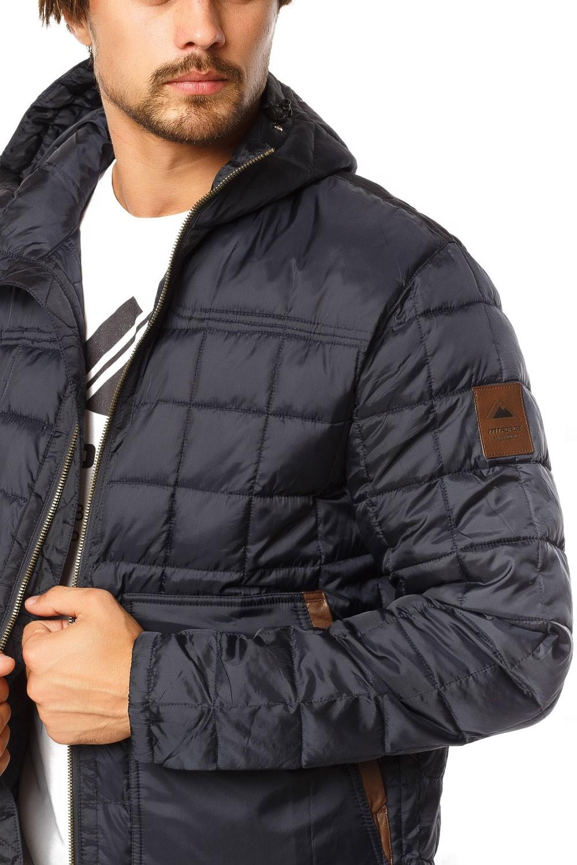 Купить оптом Куртка мужская стеганная темно-синего цвета 1741TS в Уфе