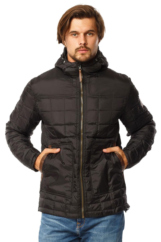 Купить оптом Куртка мужская стеганная черного цвета 1741Ch в Самаре