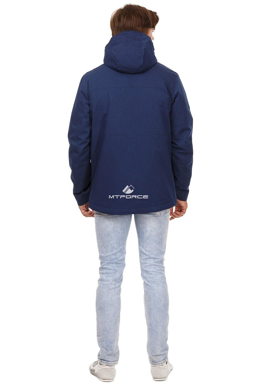 Купить оптом Куртка мужская осень весна темно-синего цвета 1742TS в  Красноярске