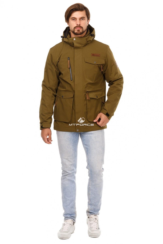 Купить оптом Куртка мужская осень весна хаки цвета 1742Kh в Екатеринбурге