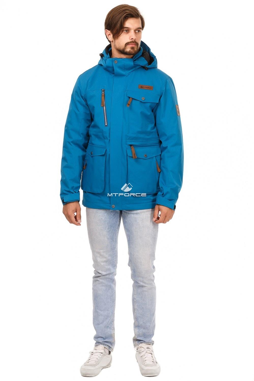 Купить оптом Куртка мужская осень весна синего цвета 1742S