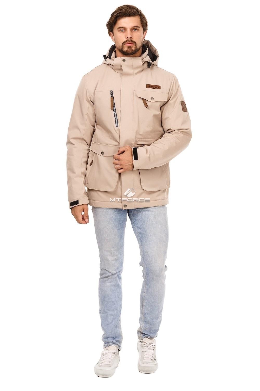 Купить оптом Куртка мужская осень весна бежевого цвета 1742B