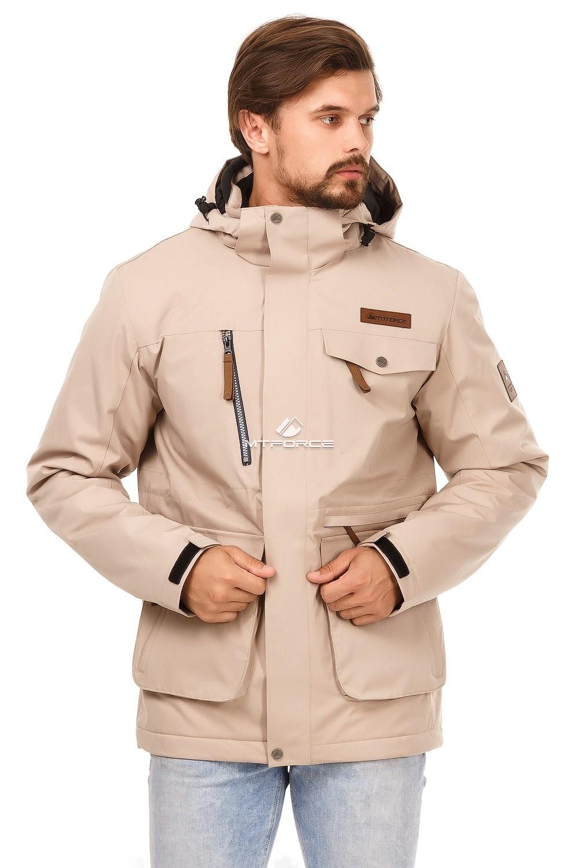 Купить оптом Куртка мужская осень весна бежевого цвета 1742B в  Красноярске