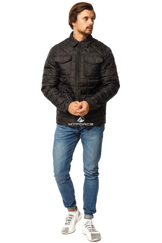 Купить оптом Куртка мужская стеганная черного цвета 1743Ch в Омске