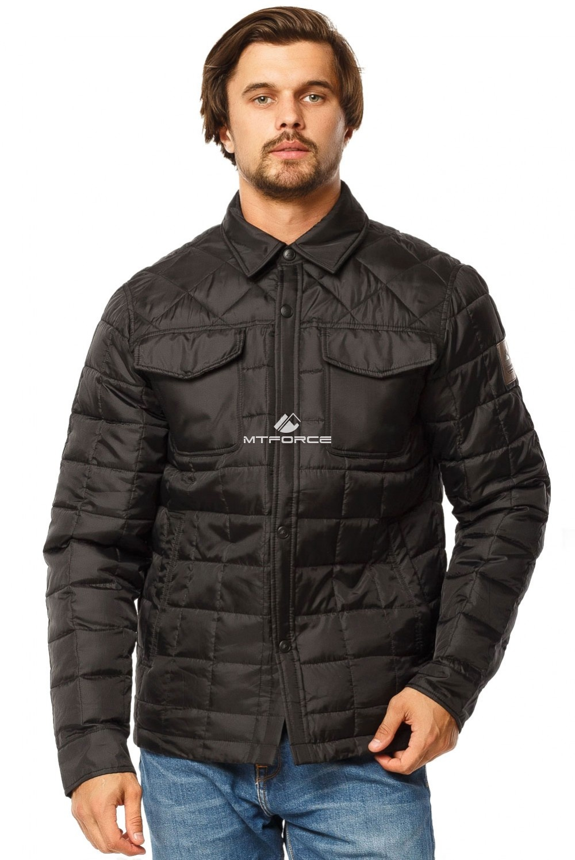 Купить оптом Куртка мужская стеганная черного цвета 1743Ch в Челябинске
