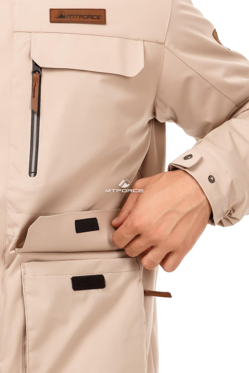 Купить оптом Куртка мужская осень весна бежевого цвета 1747B в Нижнем Новгороде