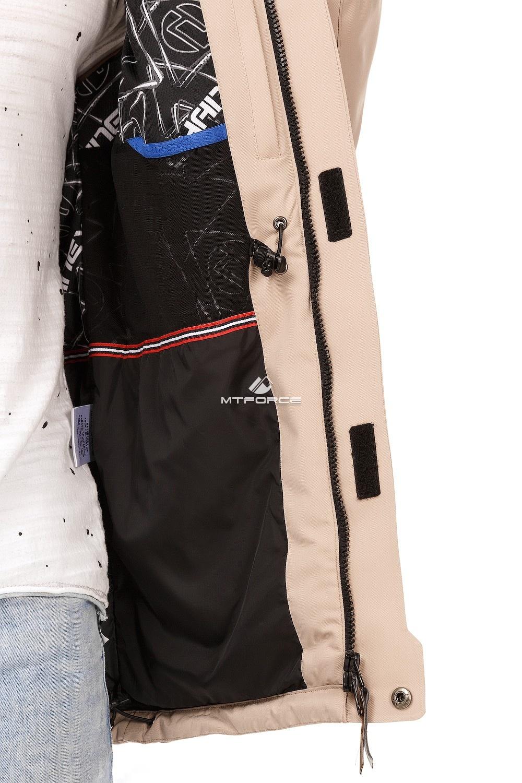 Купить оптом Куртка мужская осень весна бежевого цвета 1747B в Казани