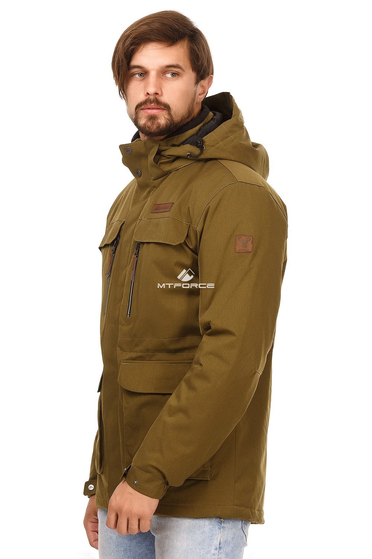 Купить оптом Куртка мужская осень весна хаки цвета 1747Kh в Уфе