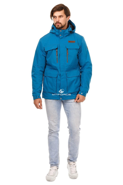 Купить оптом Куртка мужская осень весна синего цвета 1747S в Челябинске