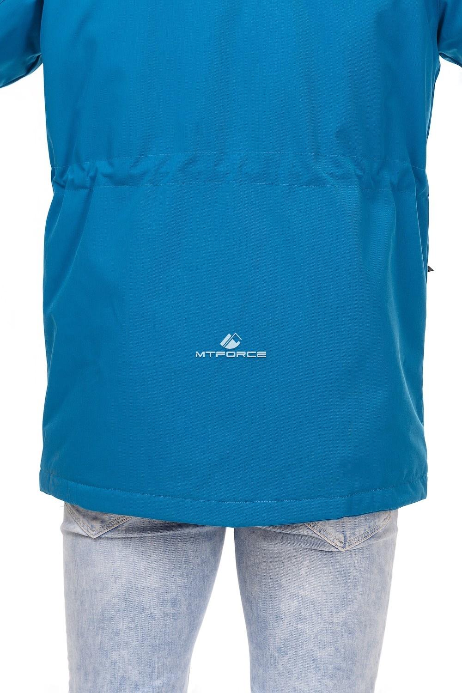 Купить оптом Куртка мужская осень весна синего цвета 1747S в Екатеринбурге