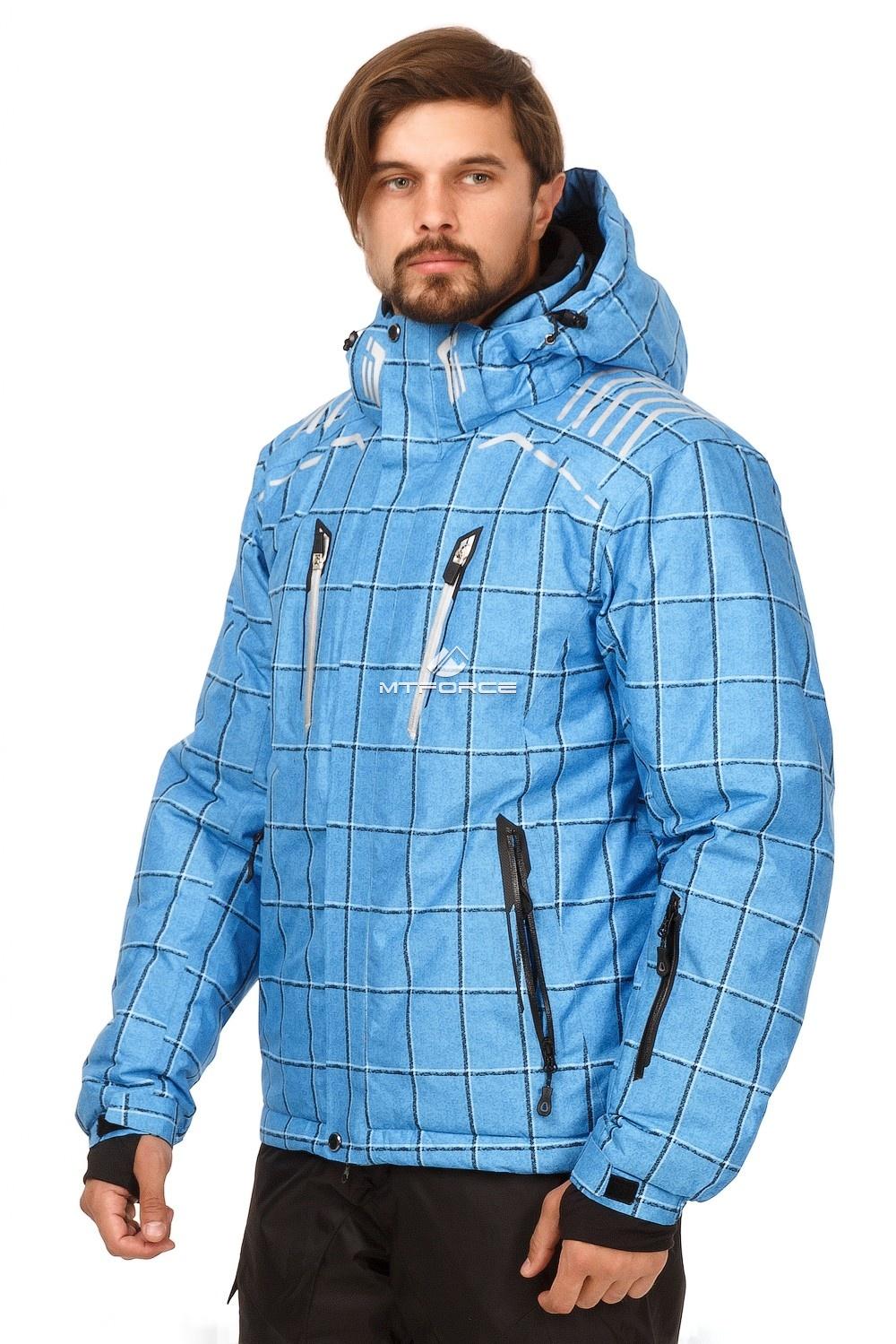 Купить оптом Костюм горнолыжный мужской голубого цвета 01749Gl в Уфе