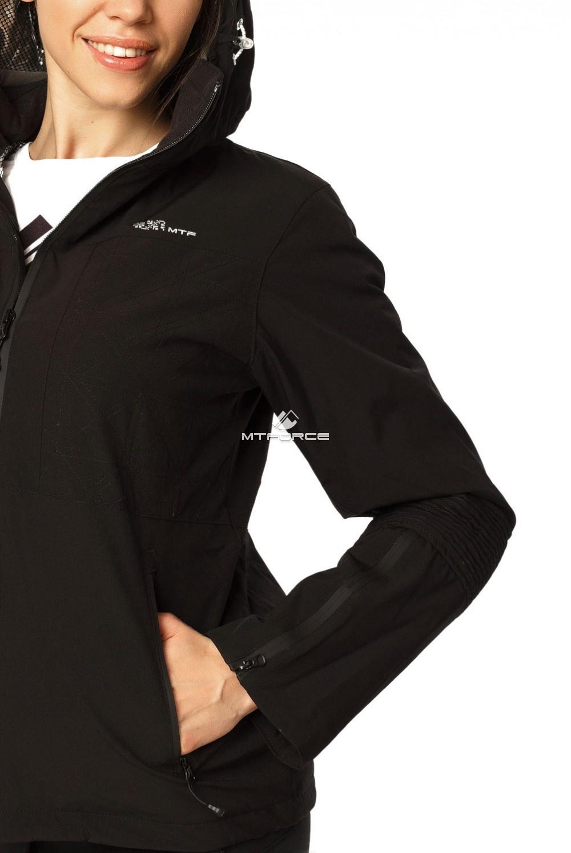 Купить оптом Костюм женский осень весна черного цвета 01752Ch в Сочи
