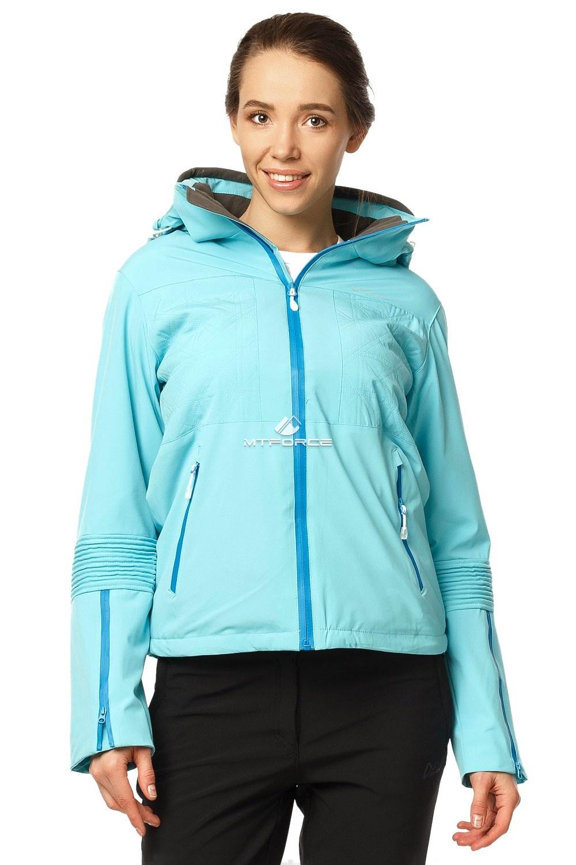Купить оптом Куртка спортивная женская осень весна бирюзового цвета 1752Br