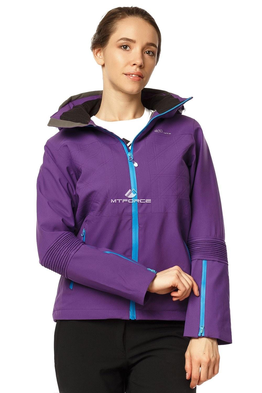 Купить оптом Костюм женский осень весна фиолетового цвета 01752F в Самаре