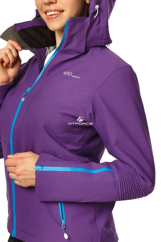 Купить оптом Куртка спортивная женская осень весна фиолетового цвета 1752F в Екатеринбурге