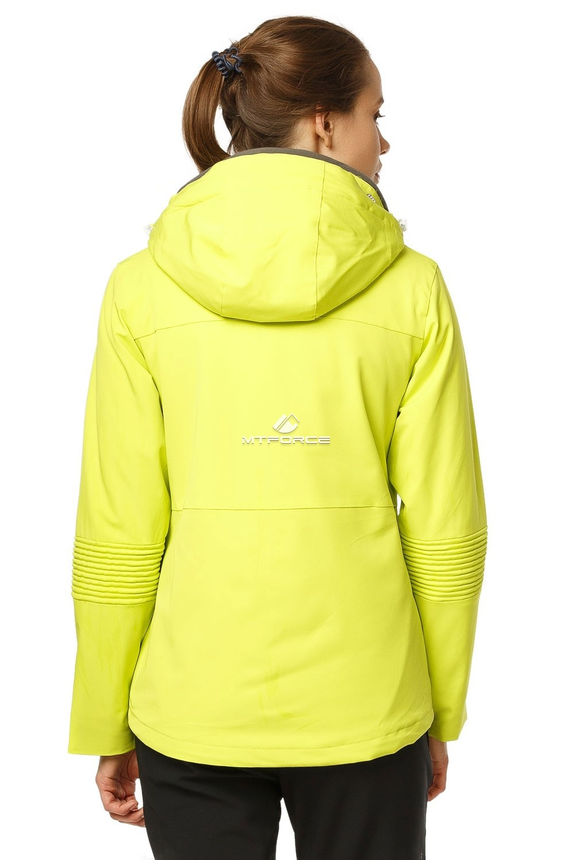 Купить оптом Костюм женский осень весна желтого цвета 01752J в Новосибирске