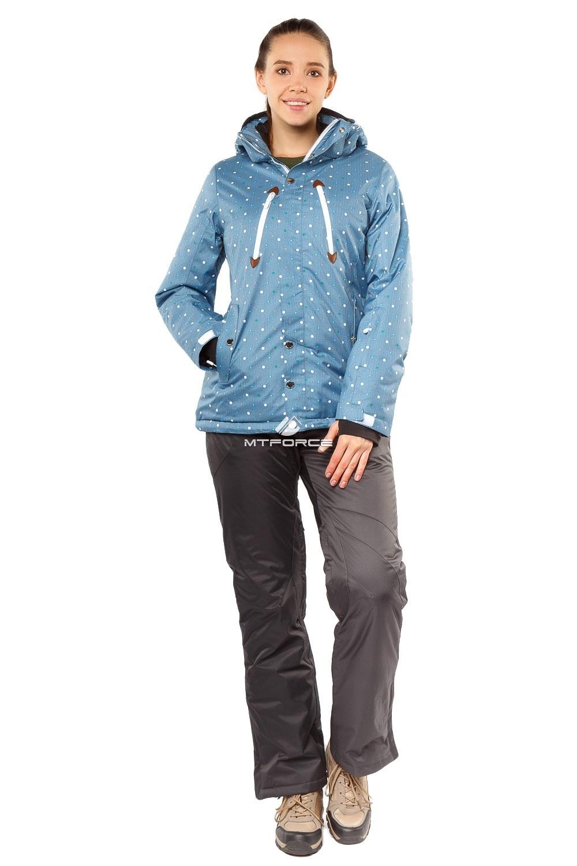 Купить  оптом Костюм горнолыжный женский синего цвета 01754S