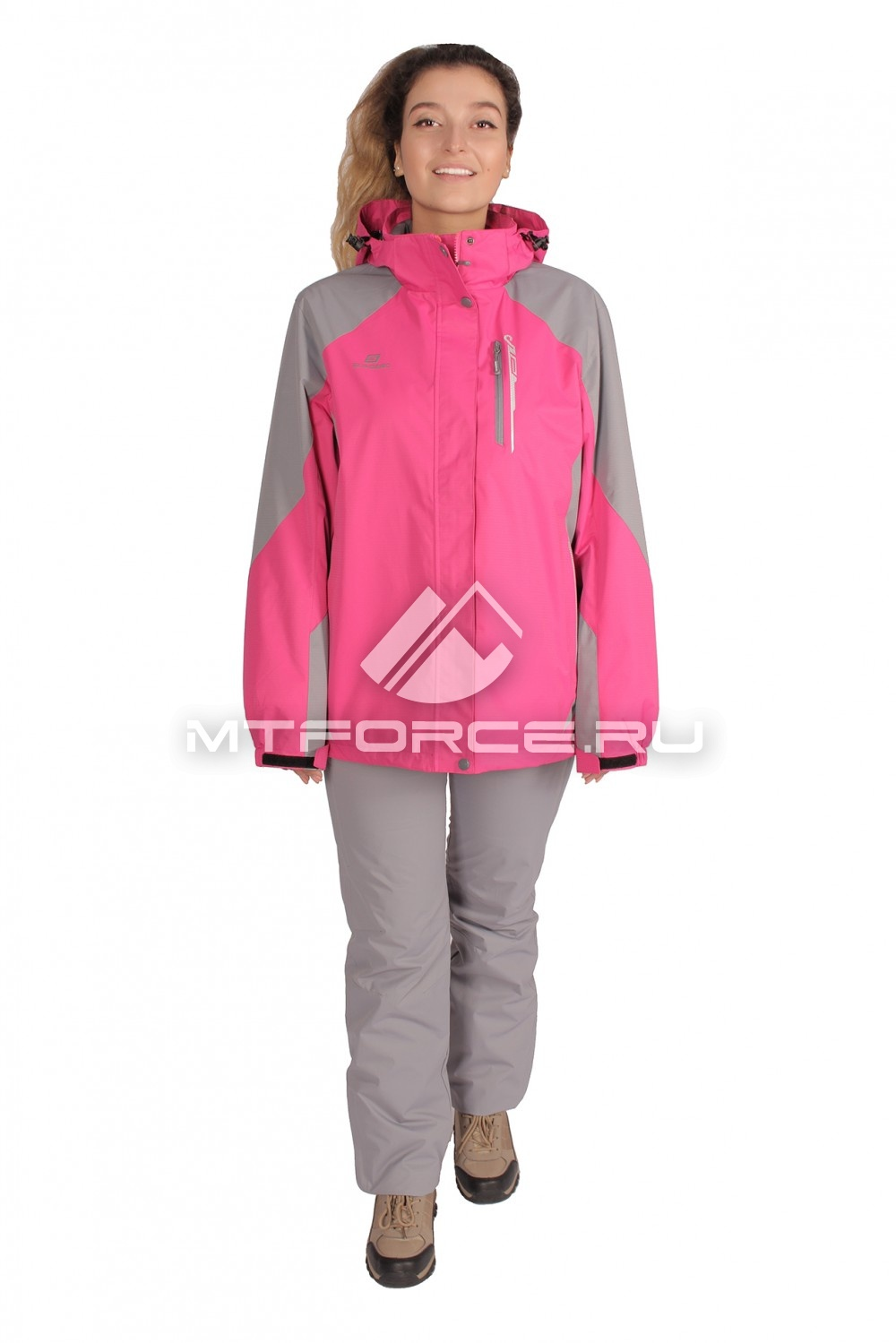 Купить                                  оптом Костюм большого размера женский розового цвета 01762R