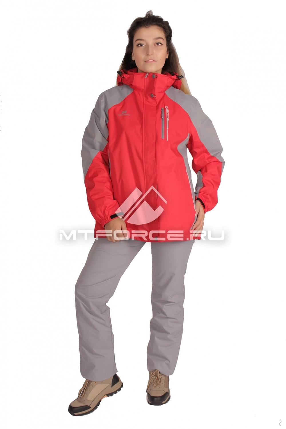 Купить                                  оптом Костюм большого размера женский красного цвета 01762Kr