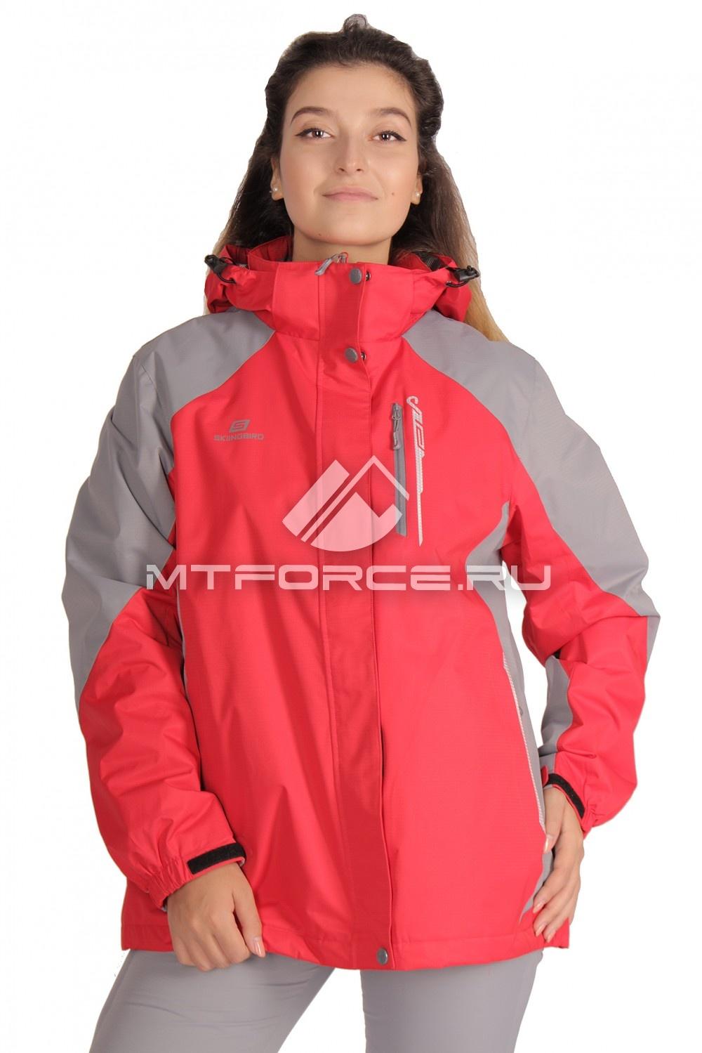 Купить                                  оптом Куртка большого размера женский красного цвета 1762Kr