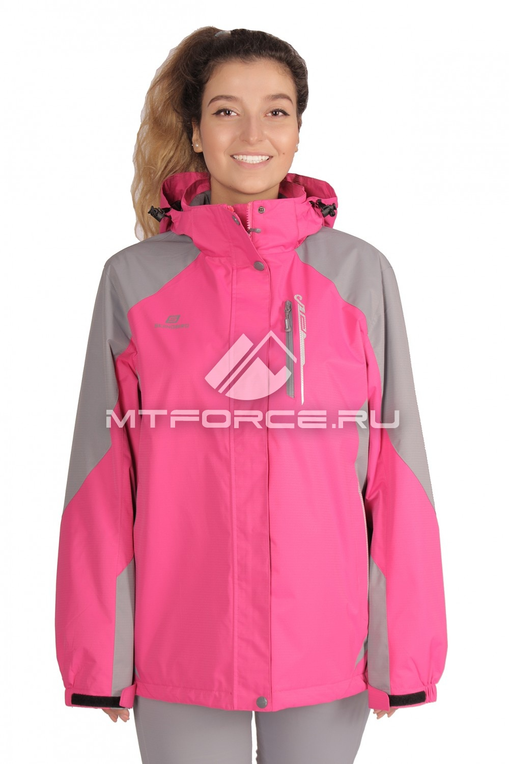 Купить                                  оптом Куртка большого размера женский розового цвета 1762R