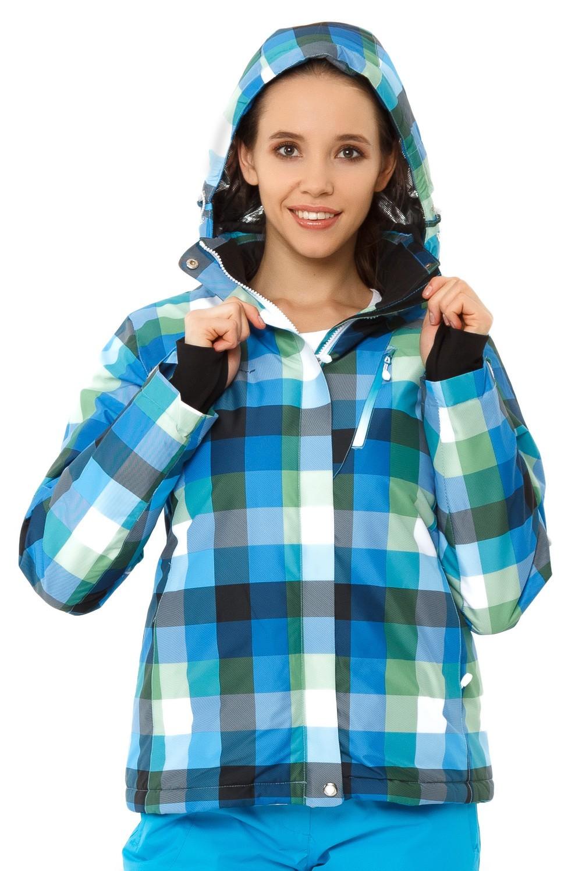 Купить оптом Костюм горнолыжный женский голубого цвета 01807Gl в Челябинске