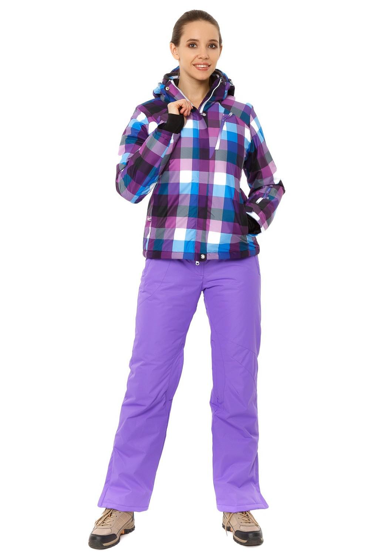 Купить оптом Костюм горнолыжный женский фиолетового цвета 01807F в  Красноярске