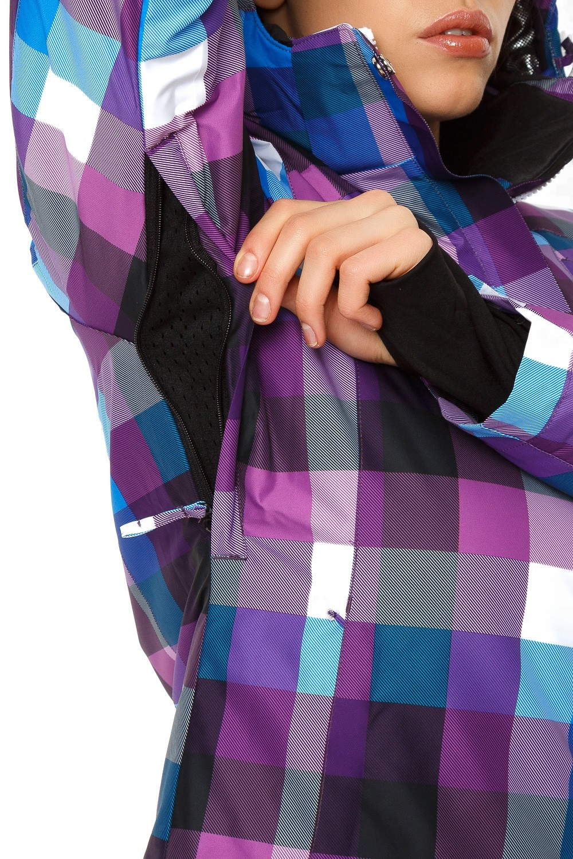 Купить оптом Костюм горнолыжный женский фиолетового цвета 01807F в Омске
