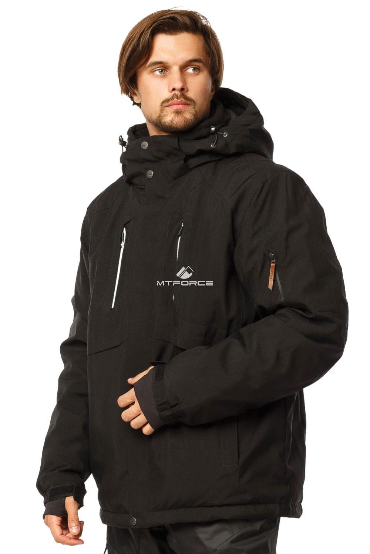 Купить оптом Куртка горнолыжная мужская большого размера черного цвета 1767Ch в Ростове-на-Дону