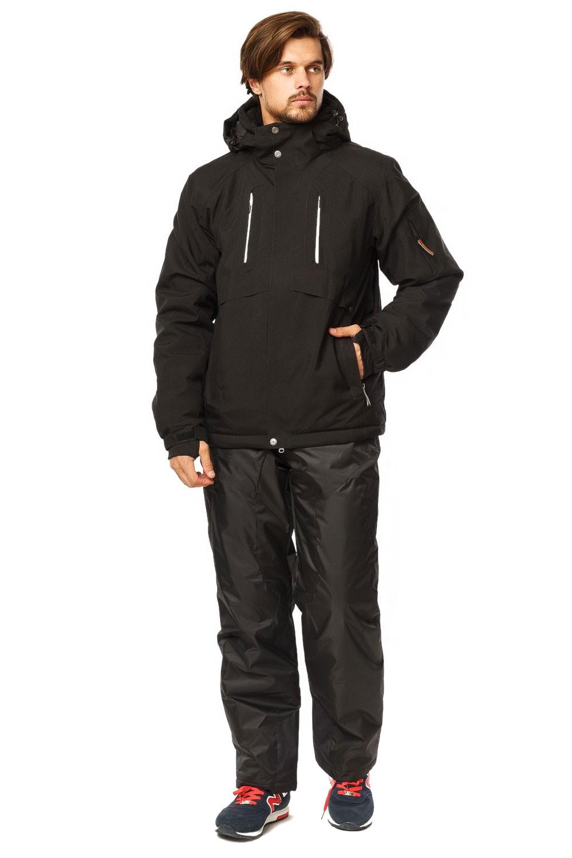 Купить оптом Костюм горнолыжный мужской черного цвета 01768Ch в Челябинске