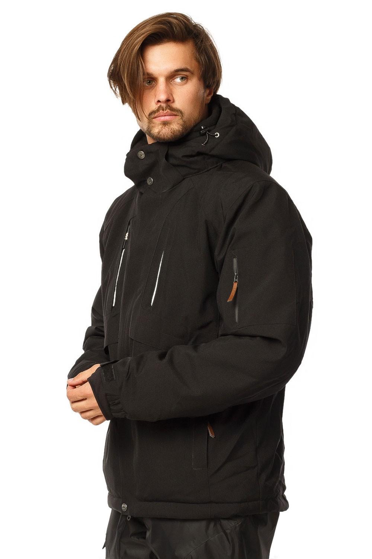 Купить оптом Куртка горнолыжная мужская черного цвета 1768Ch в Екатеринбурге