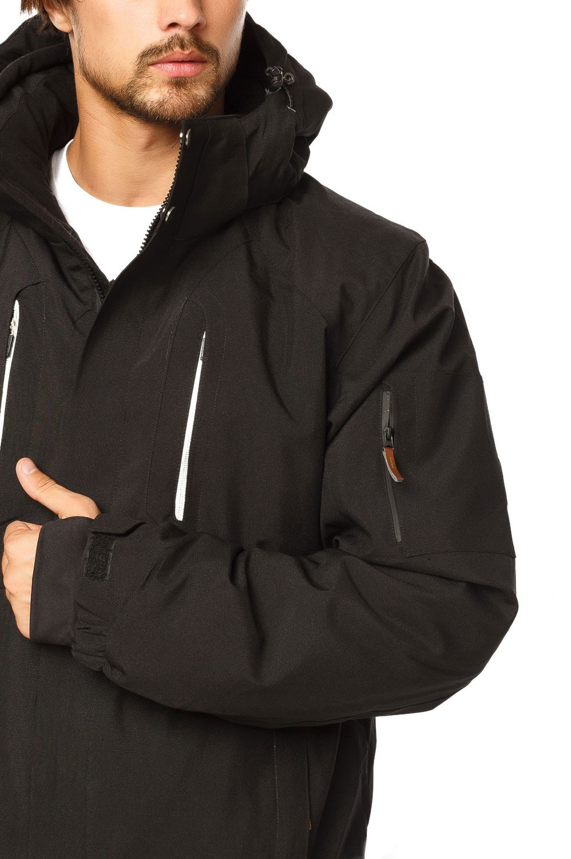 Купить оптом Куртка горнолыжная мужская черного цвета 1768Ch в Сочи