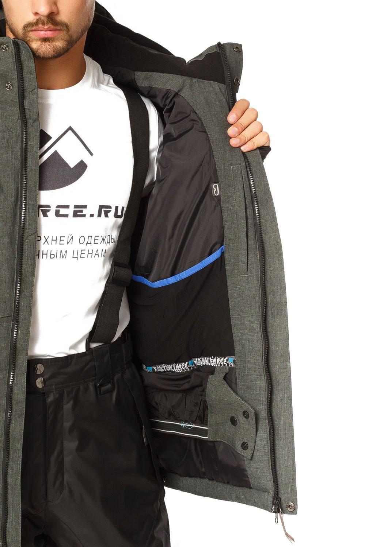 Купить оптом Куртка горнолыжная мужская хаки цвета 1768Kh в Нижнем Новгороде