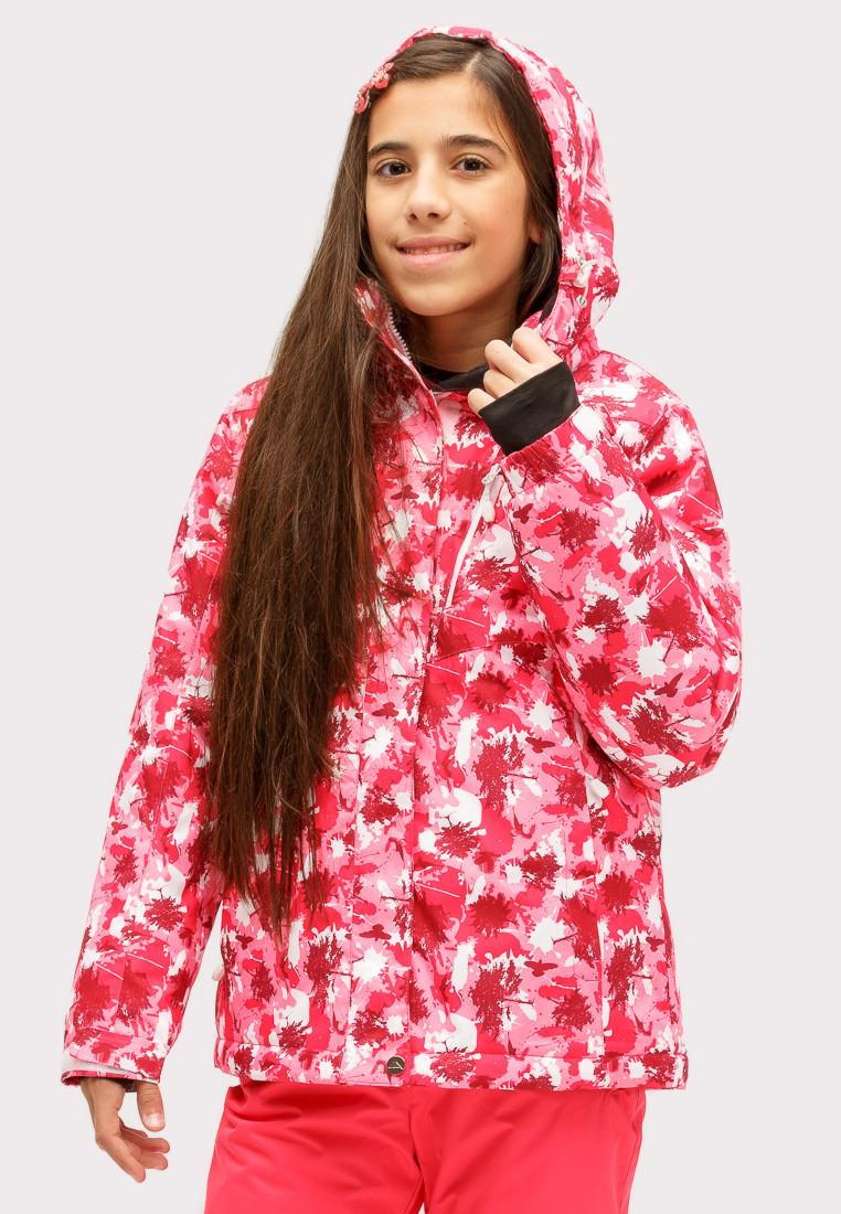 Купить оптом Костюм горнолыжный для девочки розового цвета 01773R в Воронеже