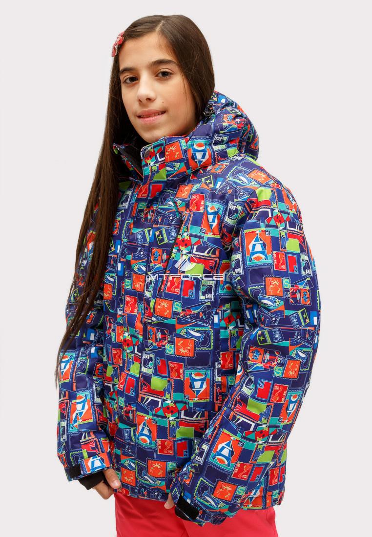 Купить оптом Костюм горнолыжный для девочки оранжевого цвета 01773O в Новосибирске