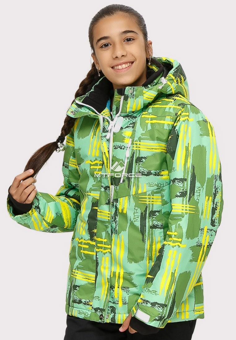 Купить оптом Костюм горнолыжный для девочки салатовый цвета 01774Sl в Воронеже