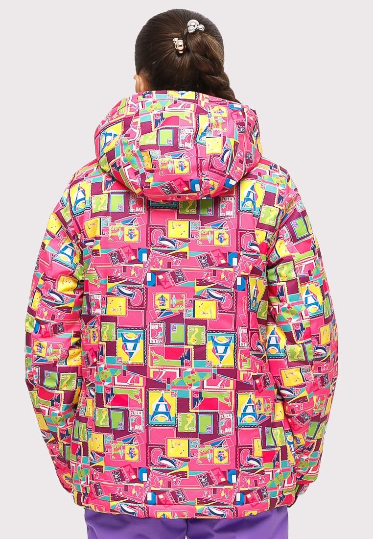 Купить оптом Куртка горнолыжная подростковая для девочки розового цвета 1774-1R
