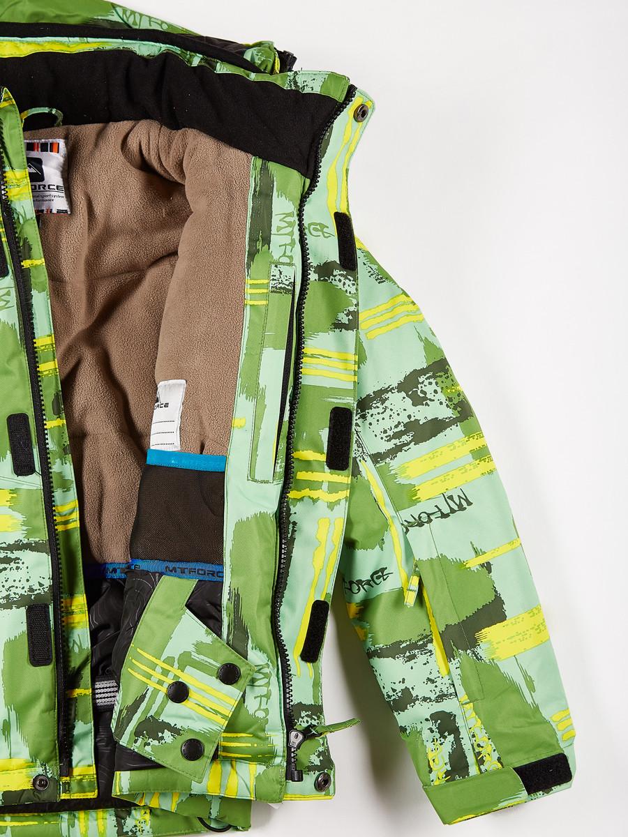 Купить оптом Куртка горнолыжная подростковая для девочки салатового цвета 1774Sl в Омске