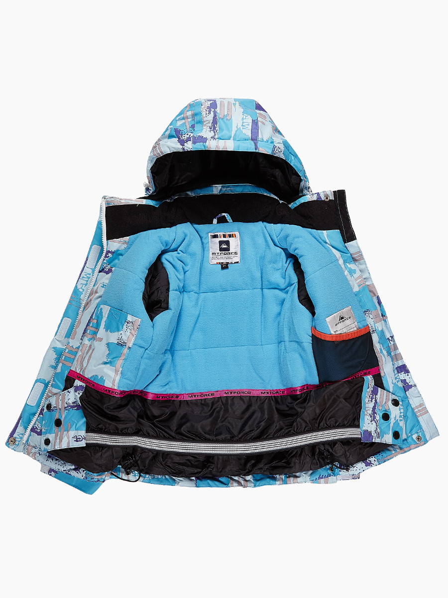 Купить оптом Костюм горнолыжный для девочки голубого цвета 01774Gl в Воронеже