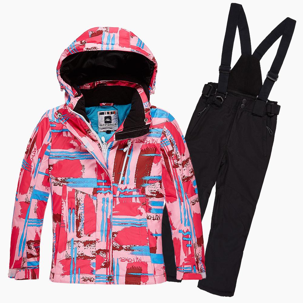 Купить оптом Костюм горнолыжный для девочки розового цвета 01774R