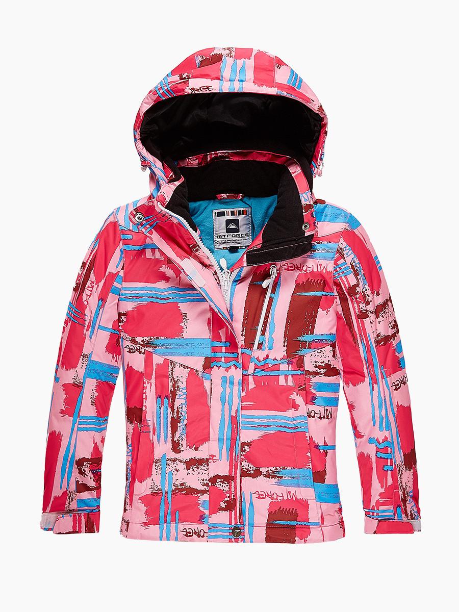 Купить оптом Куртка горнолыжная подростковая для девочки розового цвета 1774R