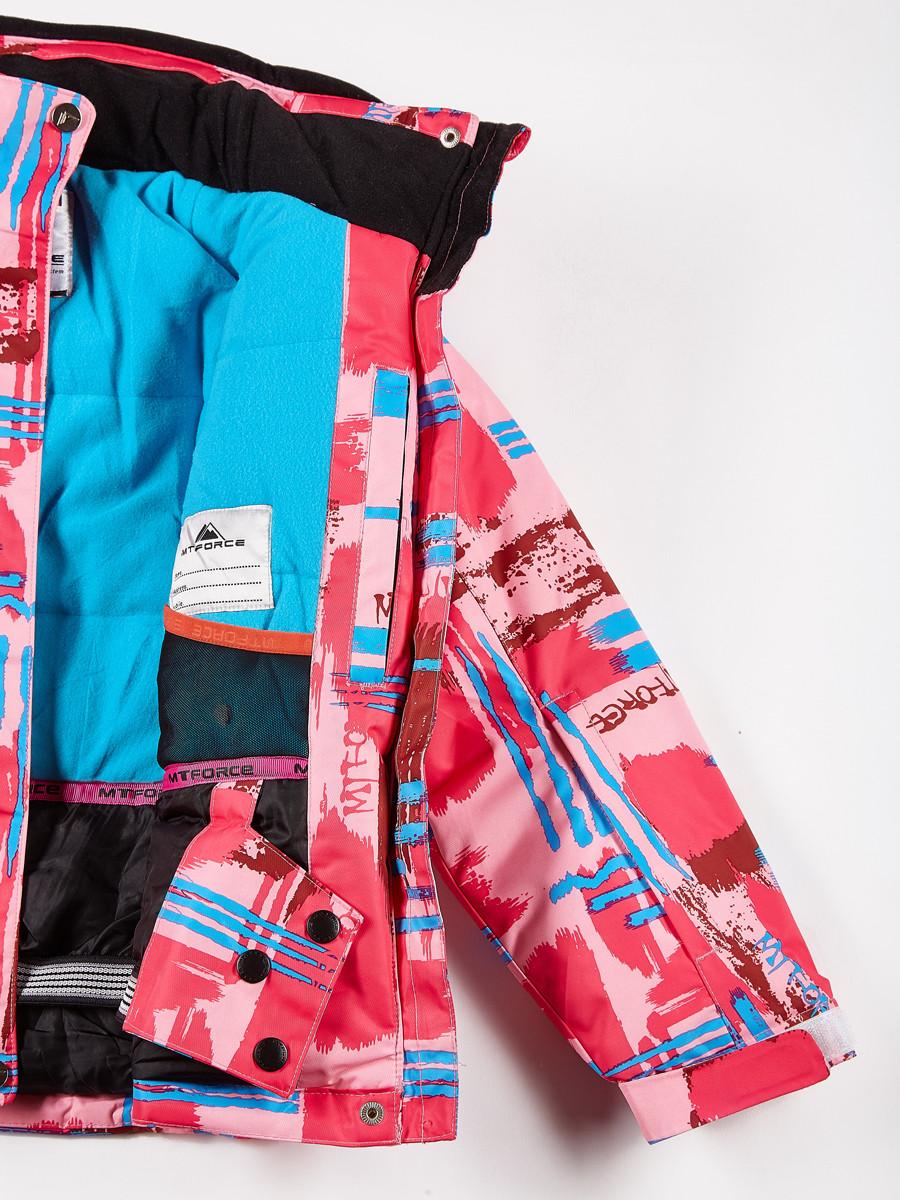 Купить оптом Костюм горнолыжный для девочки розового цвета 01774R в Волгоградке