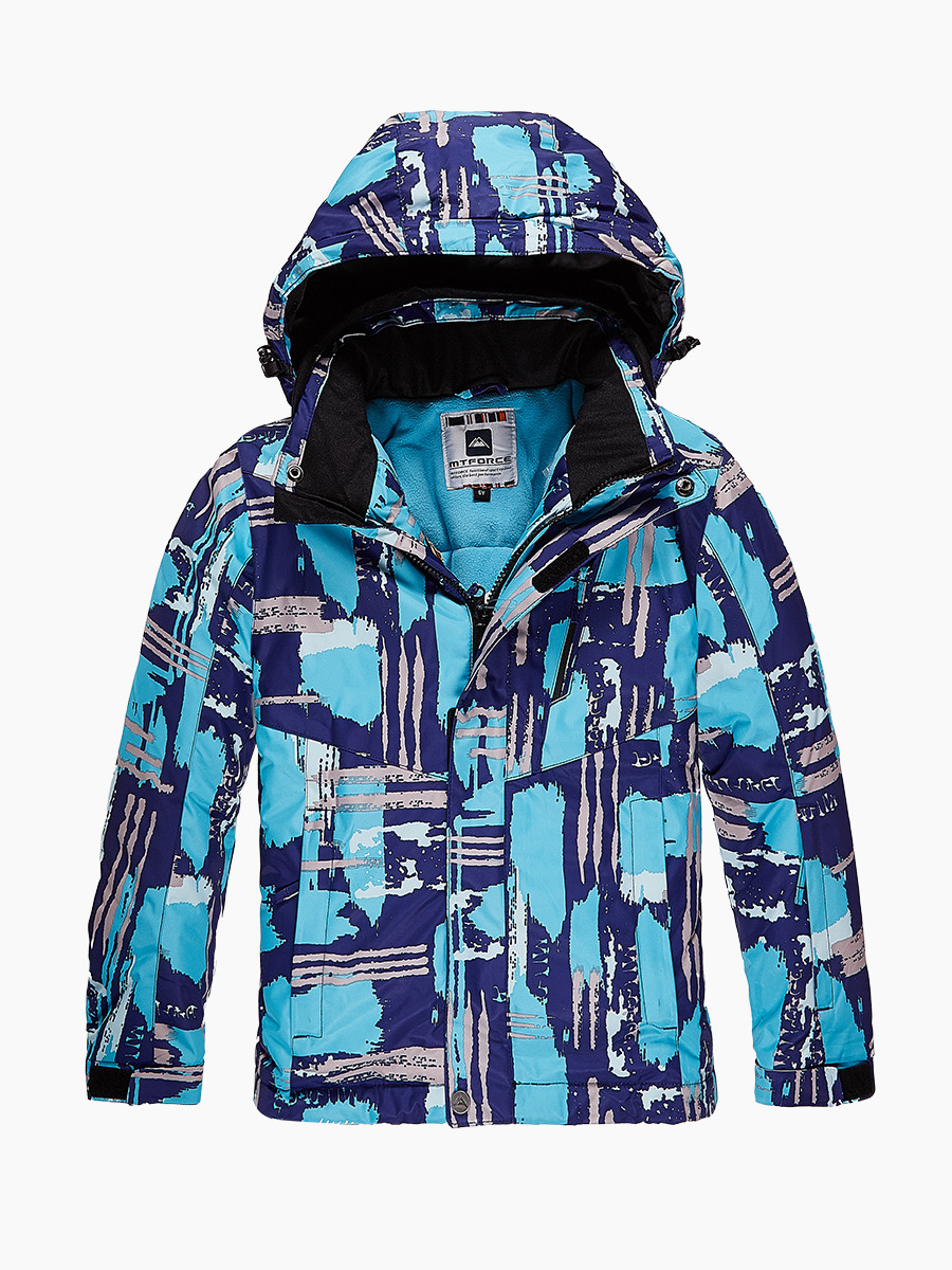 Купить оптом Куртка горнолыжная подростковая для девочки голубого цвета 1773Gl в  Красноярске