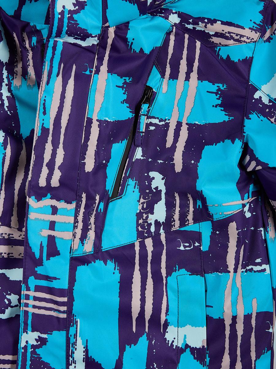 Купить оптом Костюм горнолыжный для девочки голубого цвета 01773Gl в Воронеже