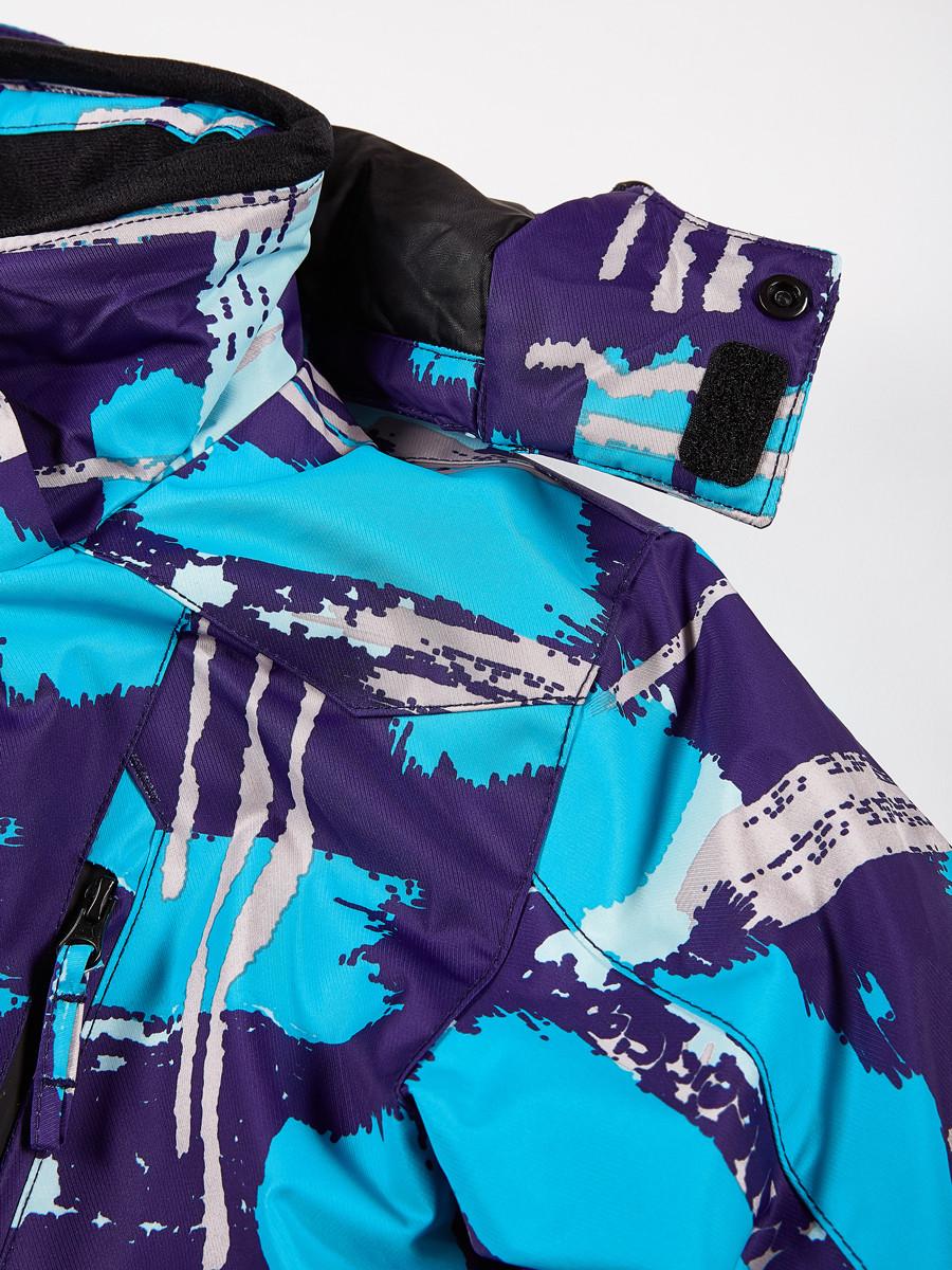 Купить оптом Костюм горнолыжный для девочки голубого цвета 01773Gl в Санкт-Петербурге