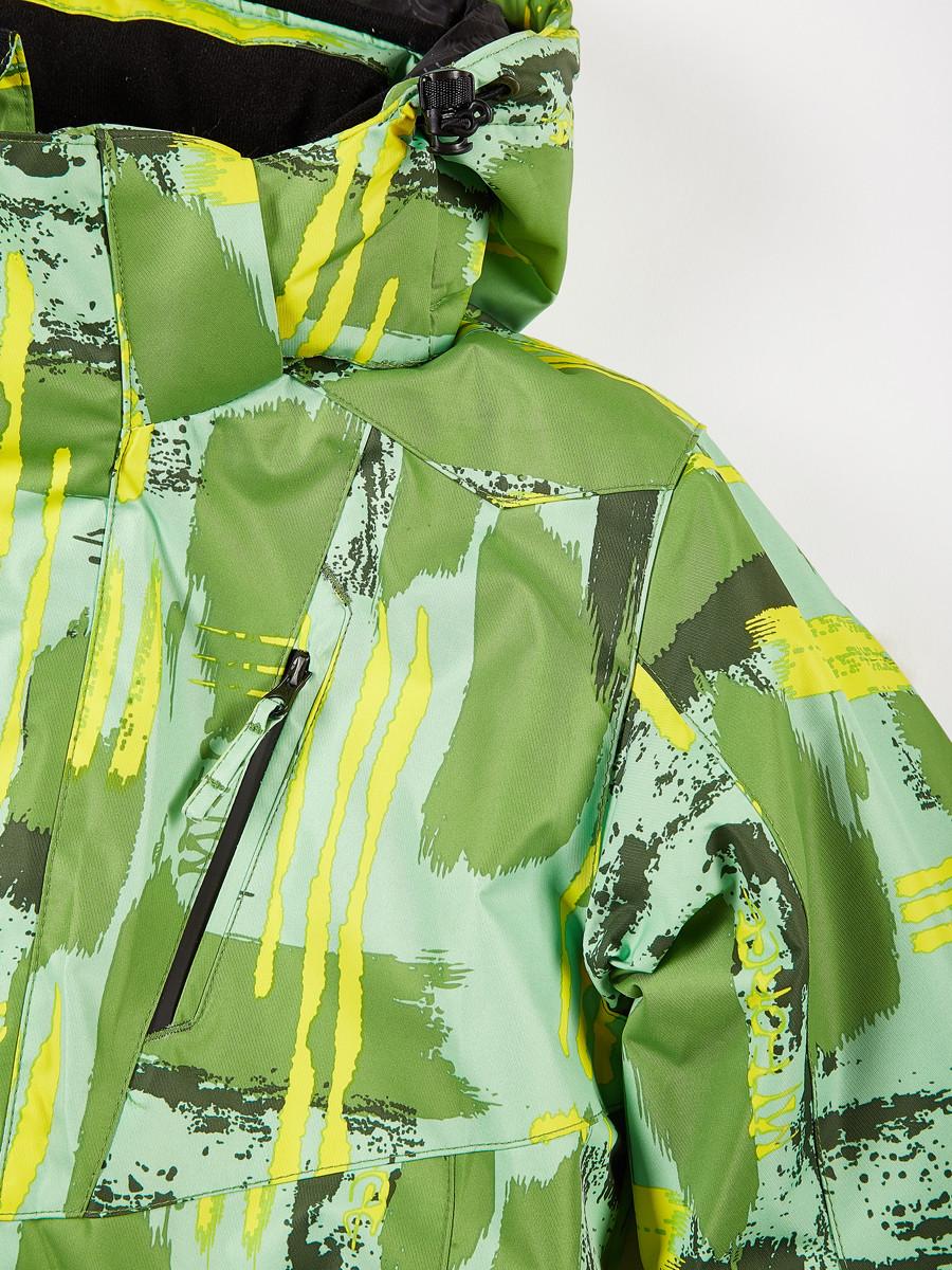 Купить оптом Куртка горнолыжная подростковая для девочки салатового цвета 1774Sl