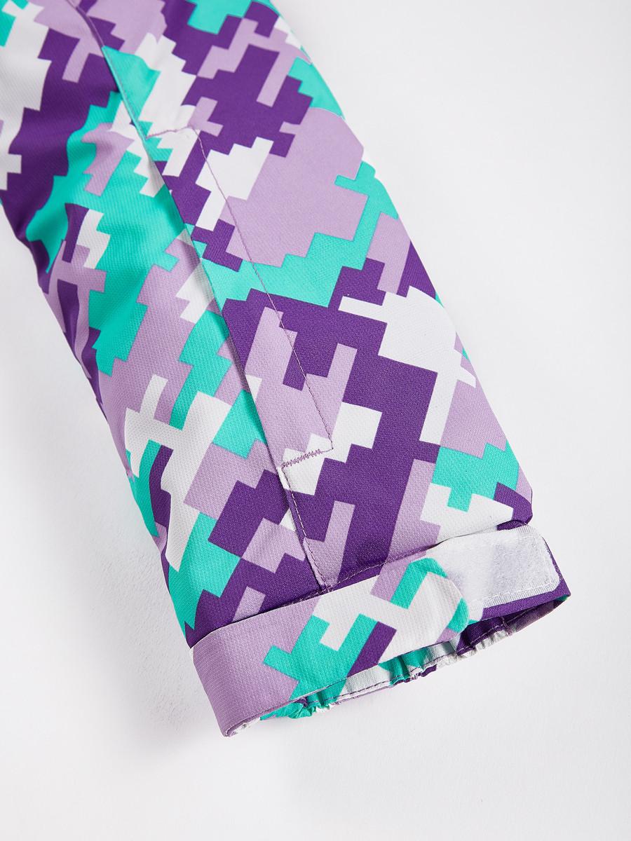 Купить оптом Костюм горнолыжный для девочки фиолетового цвета 01774F